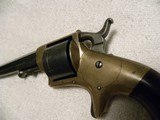 Engraved presentation Civil War Prescott model 186032 rimfire revolver. - 4 of 20