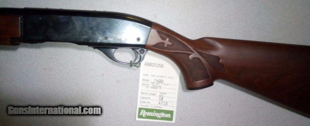 Never-Fired  308 Remington 7400 semi-auto with walnut stocks