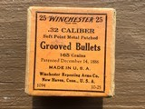 Winchester grooved metal patched bullets 32cal - 1 of 4