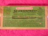 WINCHESTER SUPERSPEED 32 REM. AUTOLOADING - 1 of 6