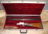 AYA Model 53 Sidelock 12ga - 2 ventilated rib barrel set with case - 1 of 12