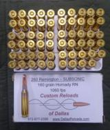 SUBSONIC .260 Remington ammo with 160 grain Hornady round nose