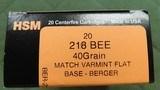 HSM 218 bee ammo
