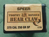 Speer trophy bonded bear claw 375 cal 250 gr