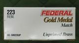 Federal 223 gold medal match brass