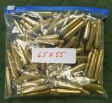Winchester 6.5 x 55 brass