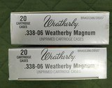 Weatherby factory 338/06 brass