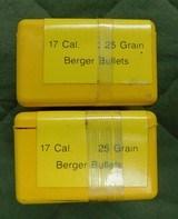 Berger 17 cal 25 gr bullets