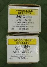 woodleigh 505 gibbs bullets 525gr sn