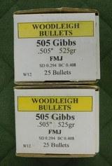 Woodleigh 505 gibbs bullets