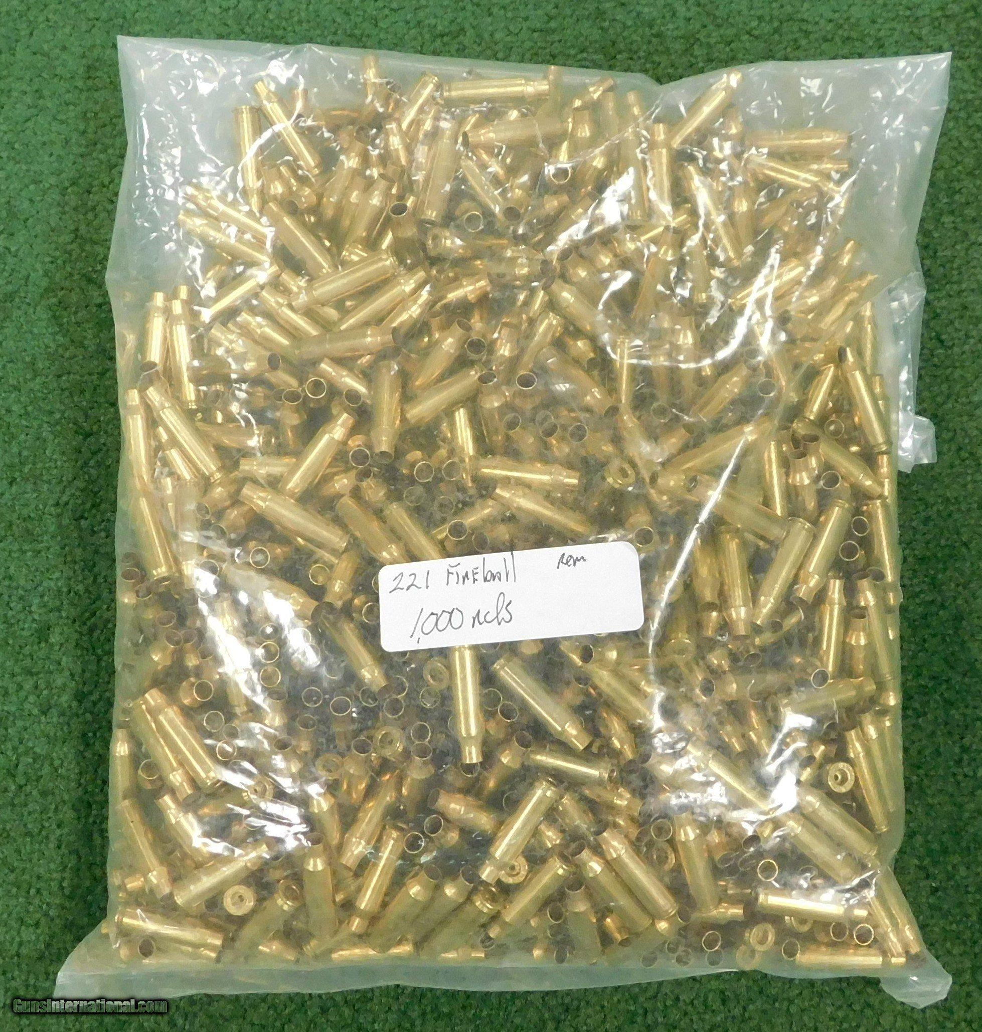 Remington 221 fireball brass