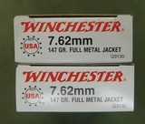 Winchester 7.62 mm 147 gr fmj - 1 of 1