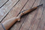 SAVAGE MODEL 340 30-30 WITH NICE FACTORY CHECKERED AMERICAN WALNUT STOCK, VG COND.