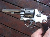 Smith & Wesson Model 22-4 Scarce Nickel N Frame 45 ACP Beauty Known For Accuracy