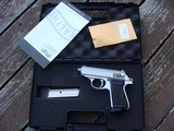 Walther PPK/S. Stainless In box with papers light use 380 Bargain