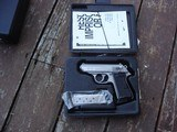 Walther PPK/S As New In Box With All Papers Desirable Stainless Model