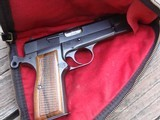 BROWNING HI POWER BELG. 1968 T SERIES WITH RING HAMMER AS NEW COND WITH BROWNING CASE !