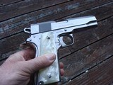 COLT 1911 BRIGHT STAINLESS 38 SUPER VINTAGE SERIES 80 IN AS NEW IN BOX RARE BEAUTY! - 3 of 9