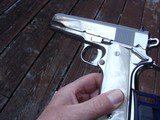 COLT 1911 BRIGHT STAINLESS 38 SUPER VINTAGE SERIES 80 IN AS NEW IN BOX RARE BEAUTY! - 1 of 9