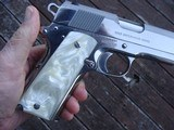 COLT 1911 BRIGHT STAINLESS 38 SUPER VINTAGE SERIES 80 IN AS NEW IN BOX RARE BEAUTY! - 4 of 9