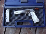 COLT 1911 BRIGHT STAINLESS 38 SUPER VINTAGE SERIES 80 IN AS NEW IN BOX RARE BEAUTY!