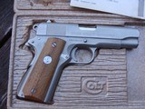 Colt Series 70 9mm Combat Commander E. Nickel Near New In Box 1974