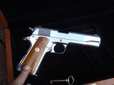Colt 1911 Silver Star 1985 Bright Stainless 45 Rare Only 1000 made Bargain Price - 17 of 19