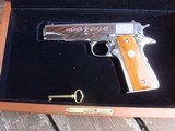 Colt 1911 Silver Star 1985 Bright Stainless 45 Rare Only 1000 made Bargain Price - 2 of 19