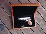 Colt 1911 Silver Star 1985 Bright Stainless 45 Rare Only 1000 made Bargain Price - 1 of 19