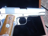 Colt 1911 Silver Star 1985 Bright Stainless 45 Rare Only 1000 made Bargain Price - 5 of 19