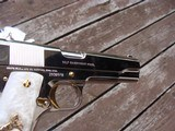 Colt 1911 Series 80 Nickel 38 Super Very Unique with factory gold accents and factory engraved scorpions MUST SEE - 2 of 7