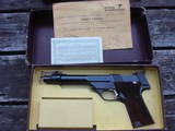 High Standard Supermatic Trophy As New In Correct Box With Papers And Barrel Weights !!!!!! - 1 of 11