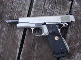 Colt 1911 Govt MK1V Series 70 E Nickel Beauty 1981 Date Of Manufacture - 3 of 9