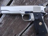 Colt 1911 Govt MK1V Series 70 E Nickel Beauty 1981 Date Of Manufacture - 2 of 9