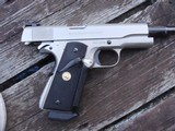 Colt 1911 Govt MK1V Series 70 E Nickel Beauty 1981 Date Of Manufacture - 4 of 9