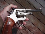 Smith & Wesson Model 27-3 Nickel 8 3/8 Stunning Beauty !!!!!!!