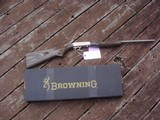 Browning 22 Auto Stainless Laminate with Octagon Barrel New Cond With Box And Papers 2010 Shot Show Special Take Down