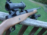 Ruger Mini 14 Modern Production with bipod and adjustable pad and cheekpiece