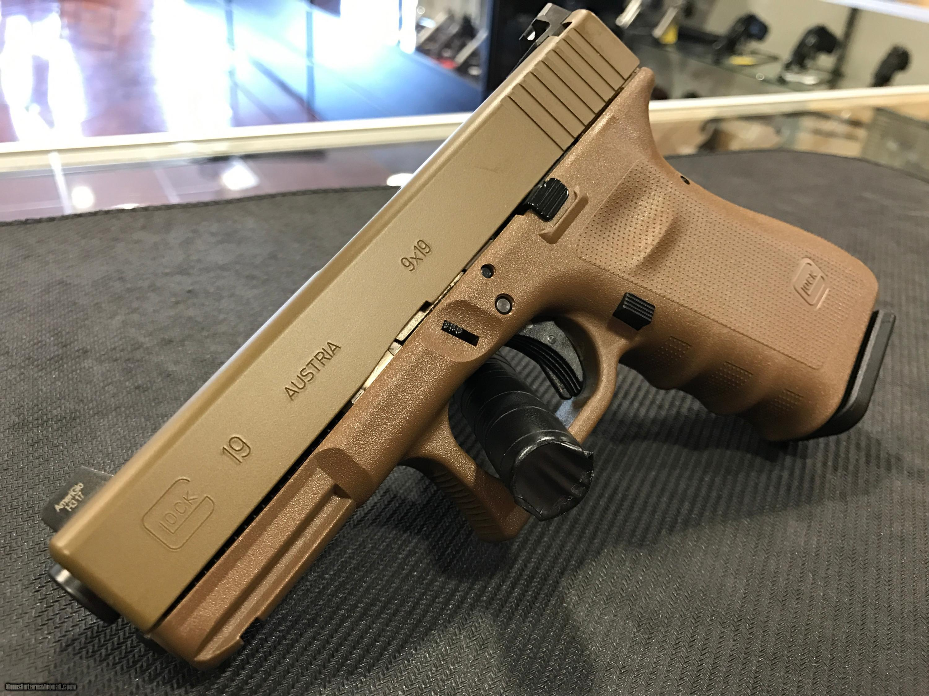 GLOCK 19RTF2 VICKERS TACTICAL 9MM FULL FDE for sale