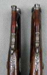 Exquisite Pair Of Engraved Basque Smooth Bore Percussion Pistols - 11 of 12