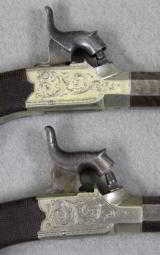 D. Egg Box Lock Pistols With Mask On Butt, Excellent - 3 of 7