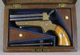 Tipping & Lawden 30 Rimfire Sharps Patent, Cased Pepperbox
