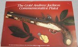 Andrew Jackson Commemorative Pistol 14-Kt Gold Edition - 19 of 19