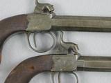 British Pair, large bore 63 Caliber Boxlock Boot Or Coat Pistols - 4 of 8