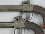 British Pair, large bore 63 Caliber Boxlock Boot Or Coat Pistols - 3 of 8