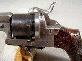 French D.A. folding trigger Pinfire Revolver - 4 of 8