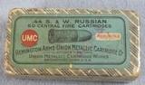 Box of 50 UMC 44 S. & W. Russian Centerfire cartridges