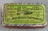 The Union Metallic Cartridge Co. Box of 50 .38 Long Rimfire