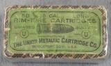 Union Metallic Cartridge Co. Bridgeport, Conn 38 rimfire long cartridges