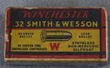 S&W, Winchester made .32 CF Smith & Wesson 85 grain bullet